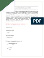 Confección de Estructuras Cristalinas en Matvis