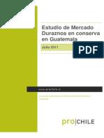 Estudio de mercado Duraznos en conserva