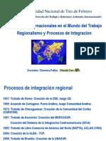 Regionalismo y Procesos de Integracion