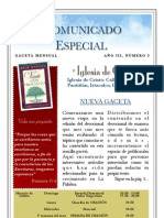 Comunicado Especial Lideres. Marzo 2010.