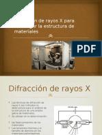 Difracción de rayos X para investigar la estructura benji.pptx