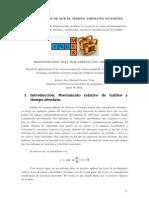 Trabajo Demostración No Invariancia de Ec. Física Ante Transformación de Galileo