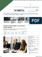 30-08-15 Trump le pedirá disculpa a Los Mexicanos, advierte Basáñez