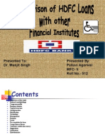 project on hdfc loans