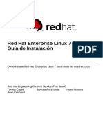 Red Hat Enterprise Linux 7 Installation Guide Es ES