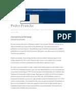 Zavalita Leyó Mal. La Pobreza en El Perú Aumenta