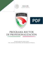 Programa Rector de Profesionalizacion policia 2014