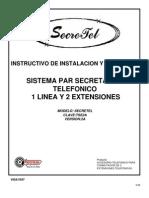 Instructivo de instalacion de un telefono secretarial