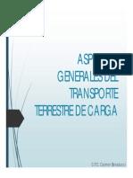 .Aspectos Generales Del Transporte Terrestre de Carga