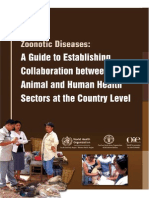 Zonootic Diseases- A Guide to Establishing Collaboration Between Animal and Human Health Sectors at the Country Level