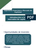 Mercados financieros introduccion