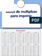 Tablas Matemáticas Para Imprimir