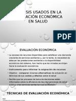 Análisis Usados en La Evaluación Económica en Salud