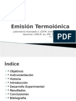 Emision termoionica