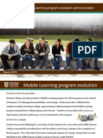 Mobile Learning Program evolution communication