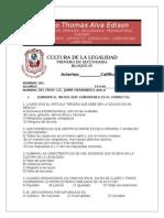 Cultura de La Legalidad-bloque IV-primero de Sec.