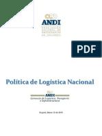 POLITICA DE LOGISTICA NACIONAL