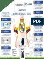 Calendario Real Madrid 2015 2016