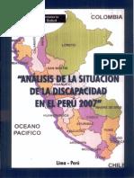 Analisis de La Situacion de Discapidad en El Peru 2007