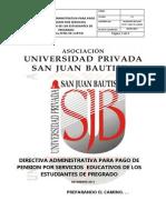 Directiva Administativa Para Pago de Pension v 3. 1
