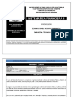 Matematica Financiera II Auditoria
