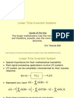 Time Invariant Systems