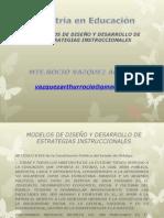 Modelos de Diseño y Desarrollo de Estrategias Instruccionales (1)