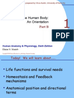 Anatomy and Physiology Ch 1b Lecture Human Body