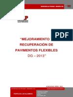 Mejoramiento y Recuperación de Pavimentos Flexibles Dg - 2013