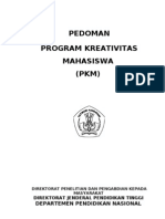 Pedoman Program Kreativitas Mahasiswa (Pkm)