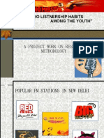 "Ppt on Research Methodology....""RADIO LISTENERSHIPS AMONG YOUTHS""....."