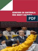 Genocidio en Guatemala- Ríos Montt culpable