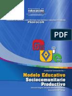 Modelo educativo sociocomunitario productivo