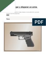 Cómo Cargar y Disparar Un Arma 9mm