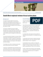 South West regional review of local action plans in implementing the National Dementia Strategy