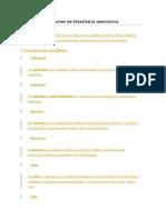 Estadística Descriptiva Resumen 1