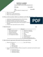 S Y J C Accounts Model Question Paper for Board Exam No 4 2009 - 2010