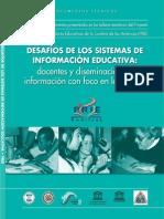 Desafios Sistemas Infdesafios_sistemas_informacion_educativaormacion Educativa Docentes Diseminacion Informacion Con Foco Escuela
