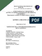 Informe 9 Organica II p