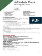 20100307 Announcements Print
