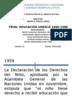 Linea de Tiempo Educación- Unesco 1960-1980