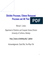 Dirichlet Processes, Chinese Restaurant Processes and All That
