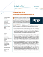 Policy Brief HEALTH 1-26-10