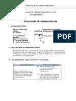Silabo Taller Programacion Web 2014-II