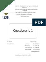 cuestinario 1y2 DE LA HISTORIA DEL DERECHO