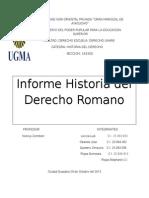 Informe Historia del Derecho Romano