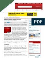 Selecting Torque for Top Motor Efficiency - (EC&M) Magazine