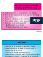 Repercusiones de La Independencia Hispanoamericana en Puerto
