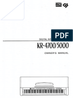 roland kr 4700 5000 owner manual