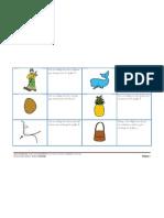 Conciencia fonológia fonema -B-